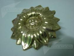 FLOR BRONCE CON PETALOS 10 CM (93)