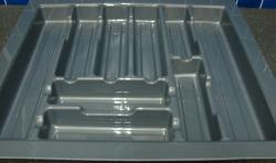 CUBIERTERO PLASTICO 44,5 X 49 GRIS (MOD 3)
