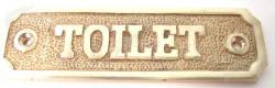 CARTEL TOILET BRONCE PULIDO C/U