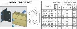 ANCLAJE HENDIDO DOBLE NE (AEDFA 90-24) C/U