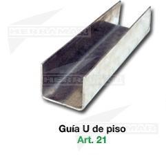 GUIA U INFERIOR ACERO INOX 2,20 MT ROMA (MT)
