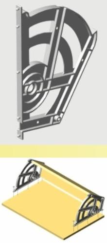 Bisagra para zapatero chica par for Zapatera de aluminio