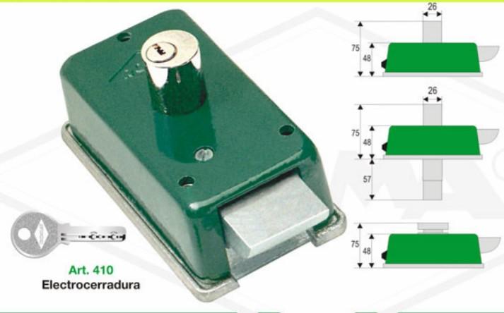 Cerradura electrica p corredizo cil pasante roma - Precio cerradura electrica ...