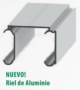 Carros corredizos plegadizos rieles for Rieles de aluminio para toldos