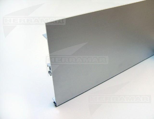 Zocalo aluminio 15 cm x mt - Zocalos de aluminio para cocinas ...