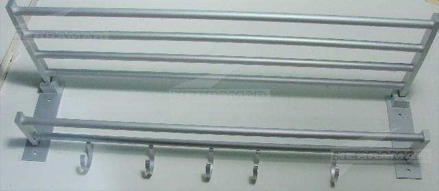 repisa porta toalla aluminio doble x