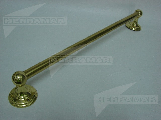 Toallero recto 50 cm bronce pulido 5320 for Toallero bronce