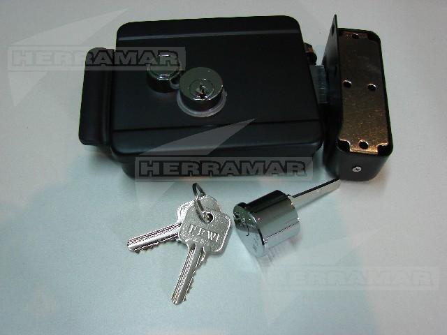 Cerradura electrica pfw cil y boton hierro - Precio cerradura electrica ...
